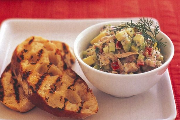 Tuna and avocado salsa with chargrilled bread