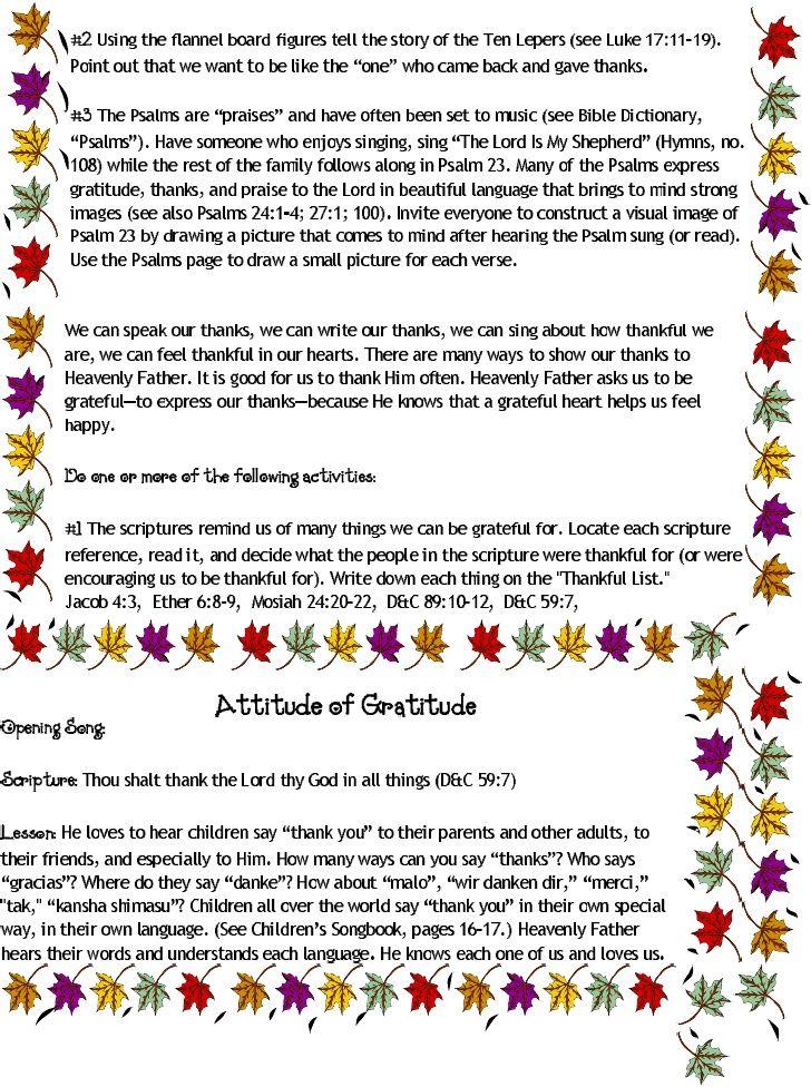 thanksgiving sharing time