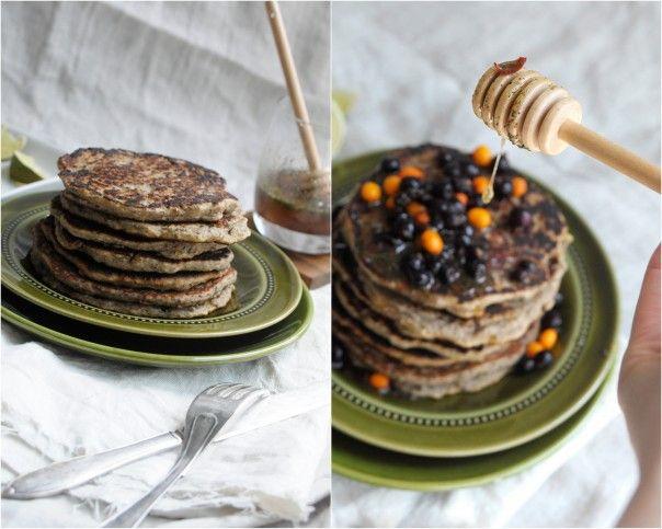 Vegan Gluten-Free Banana Buckwheat Pancakes | Earthsprout