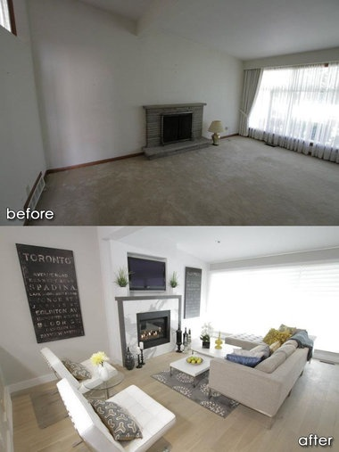 Property brothers before and after   Buildings  rooms   Pinterest