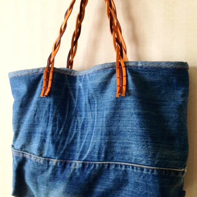 Upcycle jeans bag for Jeans upcycling ideas