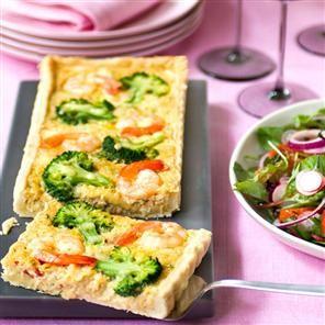Crab, prawn and broccoli tart | Sweet munchies | Pinterest