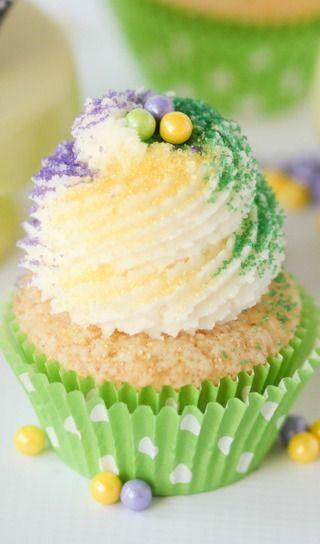 Mardi Gras King Cake Cupcakes | Cupcakes | Pinterest