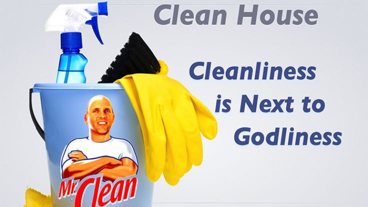Cleanliness is next to godliness 4 5