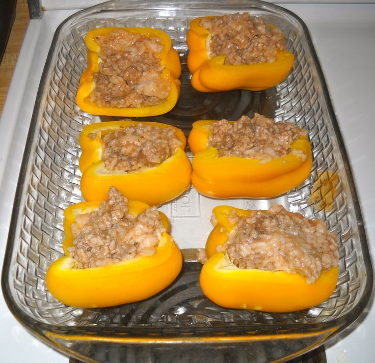 Turkey Stuffed Peppers from Skinnytaste   Weight Watchers   Pinterest