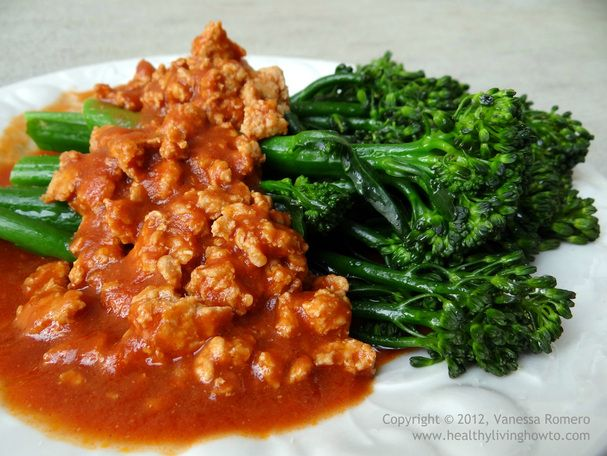 Chicken Marinara with Broccolette