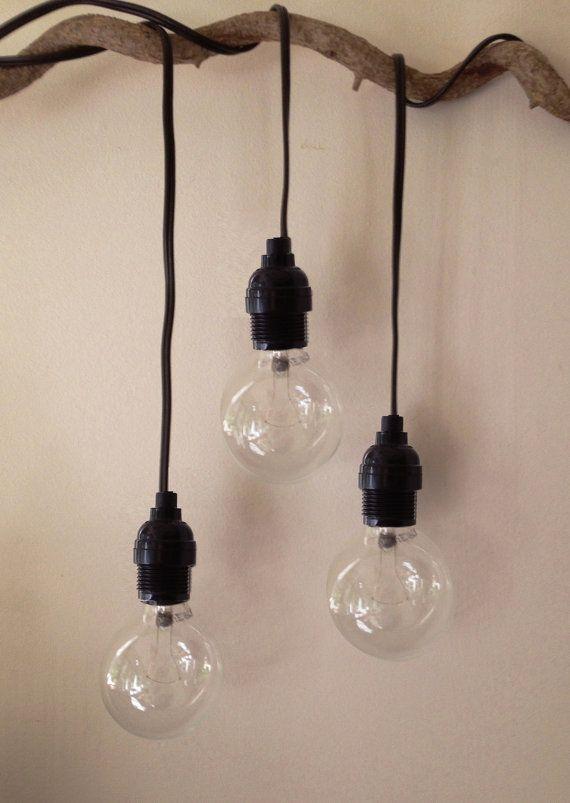 tesla hanging drop pendant light with 11 39 plug in cord. Black Bedroom Furniture Sets. Home Design Ideas