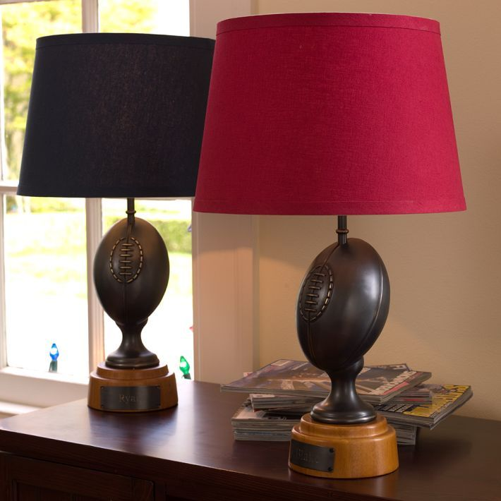 Boys bedroom football lamps football pinterest - Boys lighting for bedroom ...