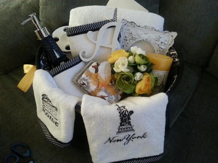 Wedding Shower Gift Basket Themes : Bridal shower gift basket. Craft Ideas Pinterest