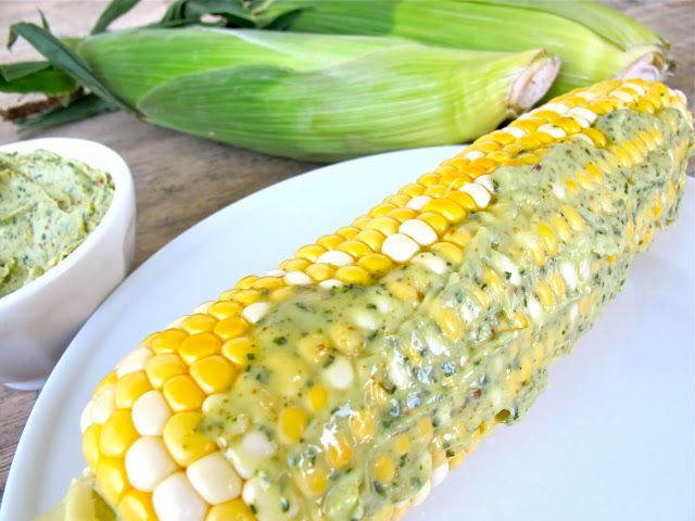 Corn on the Cob with Basil Butter | Summer Party Menu