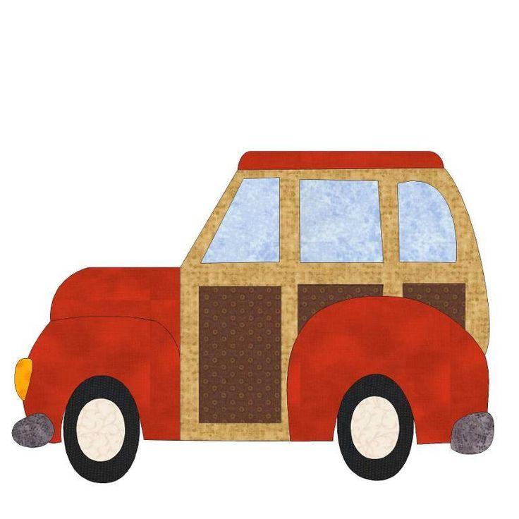 絎縫:汽車和飛機貼花被子塊