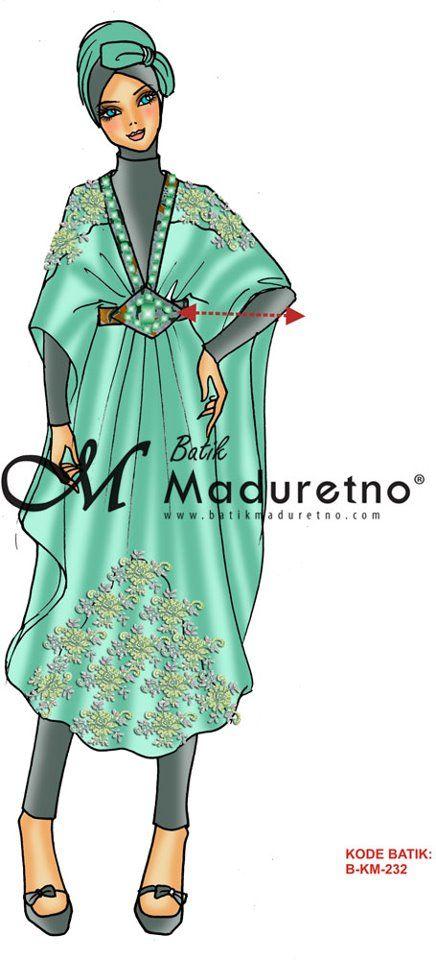 sketsa desain kaftan batik tulis visit our website : batikmaduretno ...