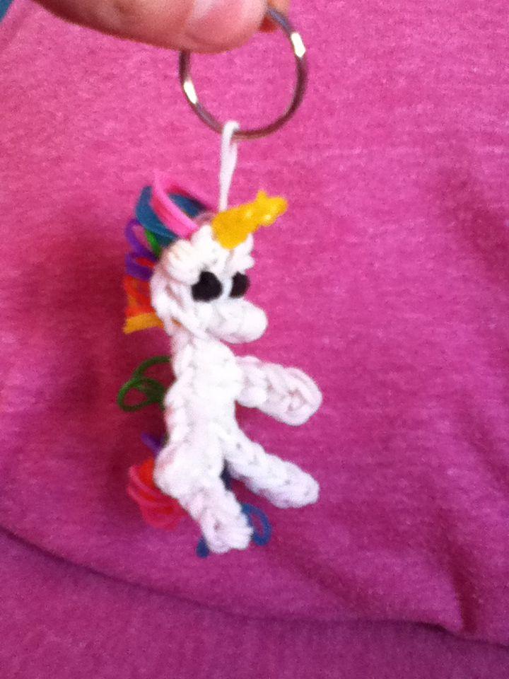 Rainbow Loom Amigurumi Unicorn : Rainbow loom unicorn Rainbow loom Pinterest