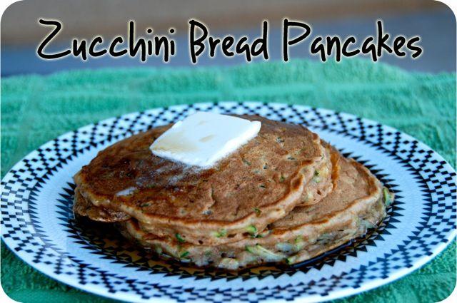 Zucchini Bread Pancakes | breakfast | Pinterest