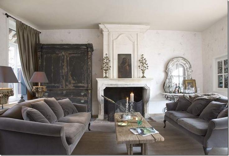 Rustic Gray Living Room Grey Gardens Pinterest