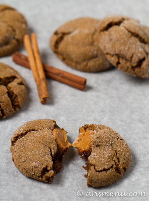 Caramel-Stuffed Ginger Molasses Cookies: soft and gooey good (gf ...