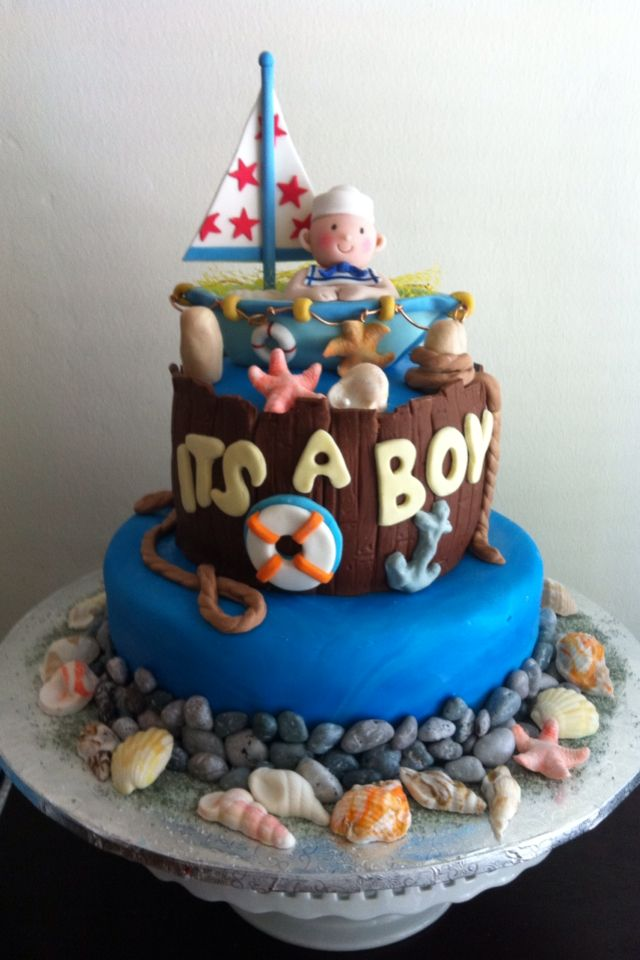 nautical baby shower cake food pinterest