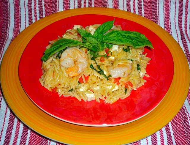 ... Meals that Sizzle…Featuring Tomato-Basil Shrimp with Orzo and Feta