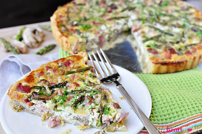 Springtime Asparagus Tart ~ with ham, mushrooms, Swiss, and a buttery ...