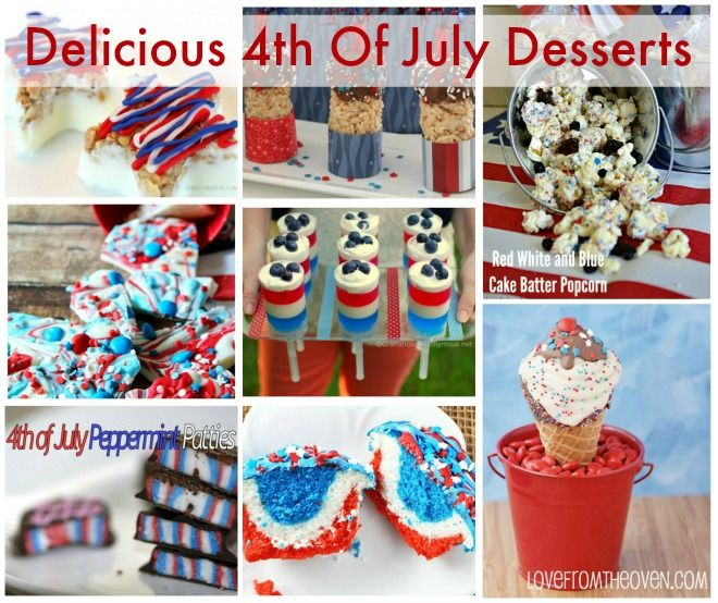 4th of july desserts for a crowd