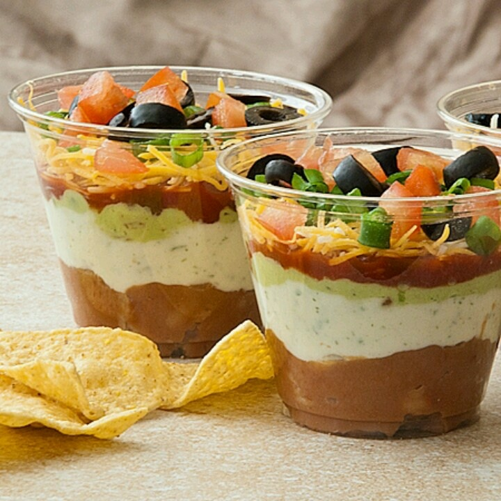 Taco dip cups | Get in myy Belly!!! | Pinterest