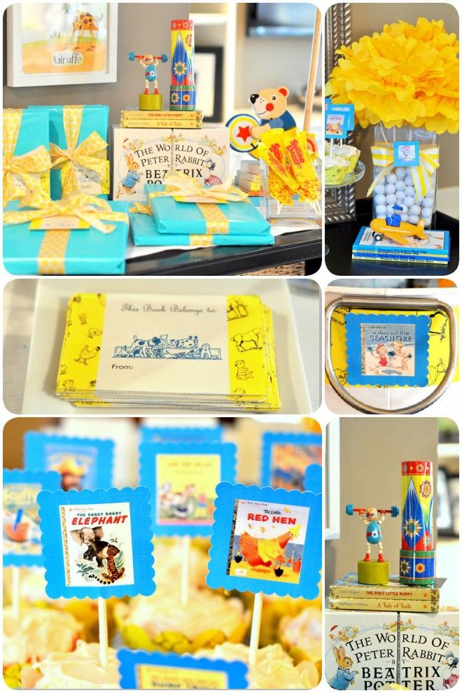 golden books baby shower free printables