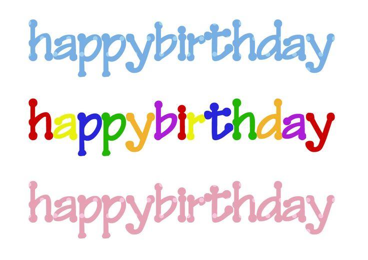 Happy Birthday Word Art