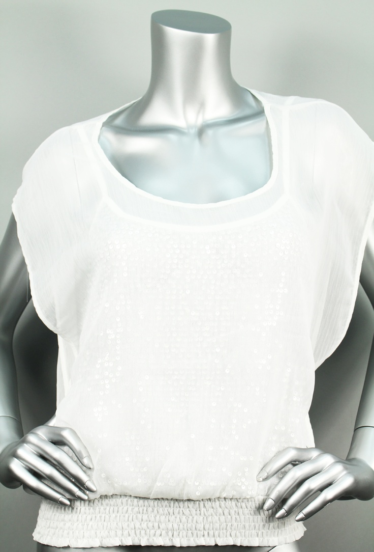 Sequin and sheer top $36