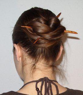 Asian hair bun