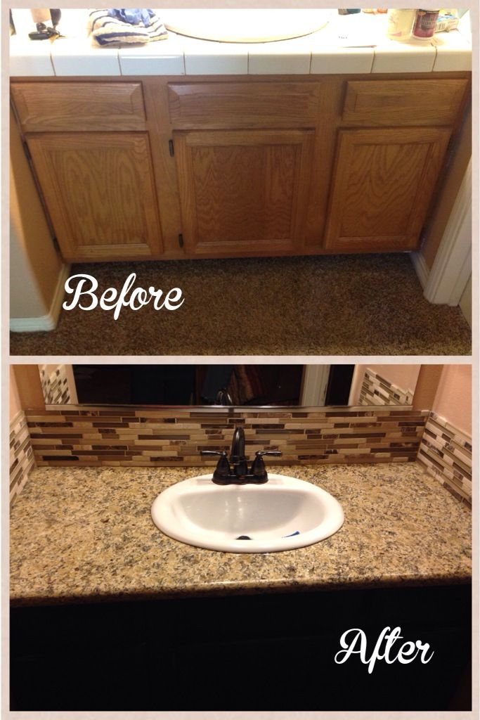 before and after diy bathroom remodel our new home pinterest
