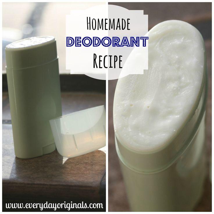 homemade deodorant recipe via www.everydayoriginals.com