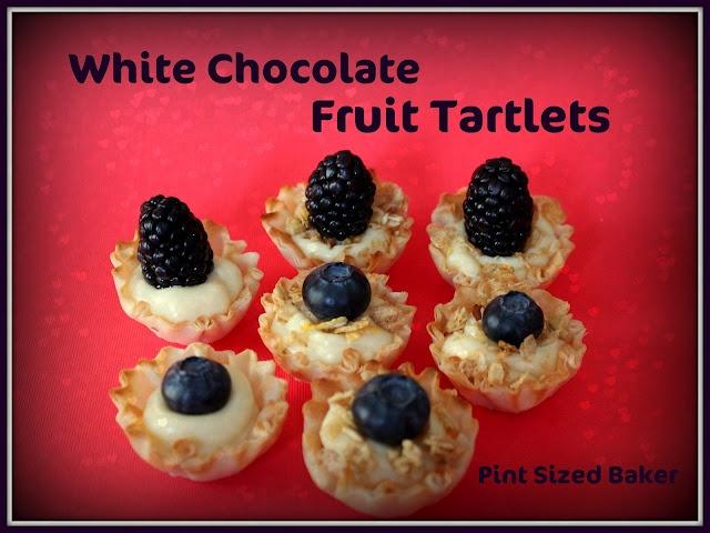 White Chocolate Ganache Mini Fruit Tarts