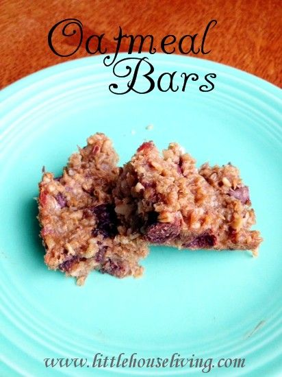 Homemade Oatmeal Bars 1 1/2 cup steel cut oats -- soaked overnight ...
