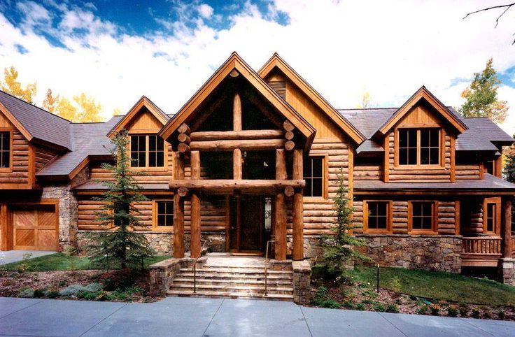Beautiful Log Home Houses I Could Live In