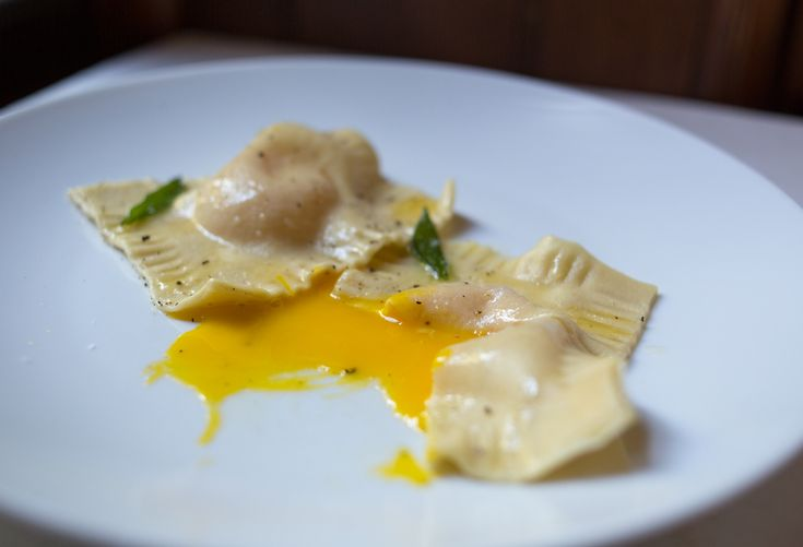egg yolk ravioli | punctuated. with food | infinite mountains of past ...