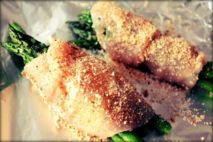 with chicken and asparagus chicken and asparagus rolls with almond ...
