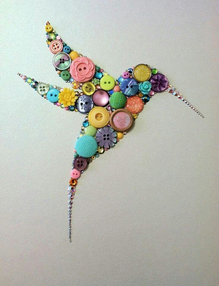 Button art diy crafts pinterest for Button crafts for adults