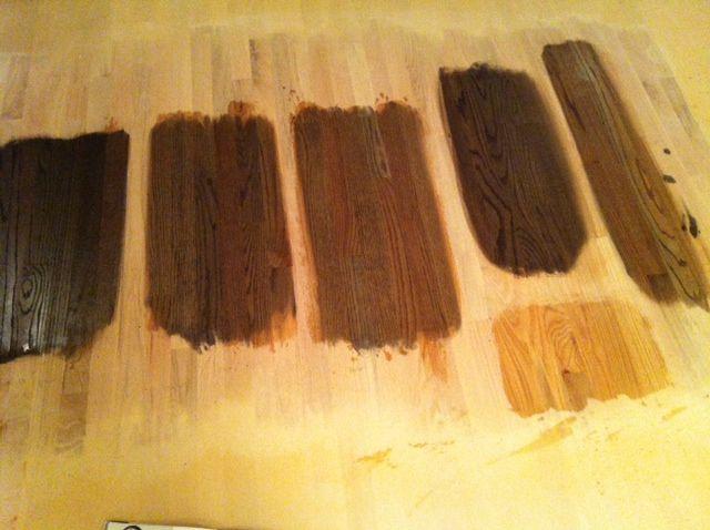 Different stain on yellow oak floors. | Hard Wood Floors | Pinterest