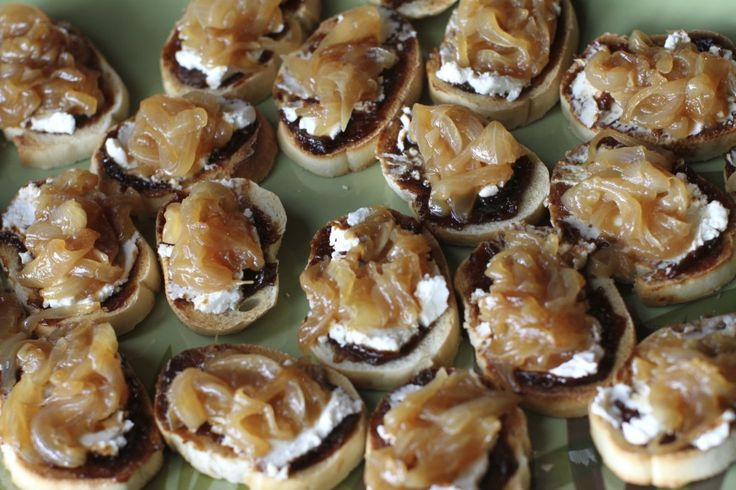 fig goat cheese and caramelized onion sandwiches recipe yummly goat ...