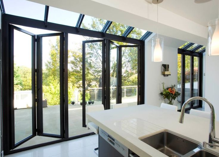 Pin by apropos uk on killer kitchen extensions pinterest for Conservatory sliding doors