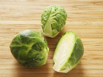 Braised Brussels Sprouts in Mustard Sauce