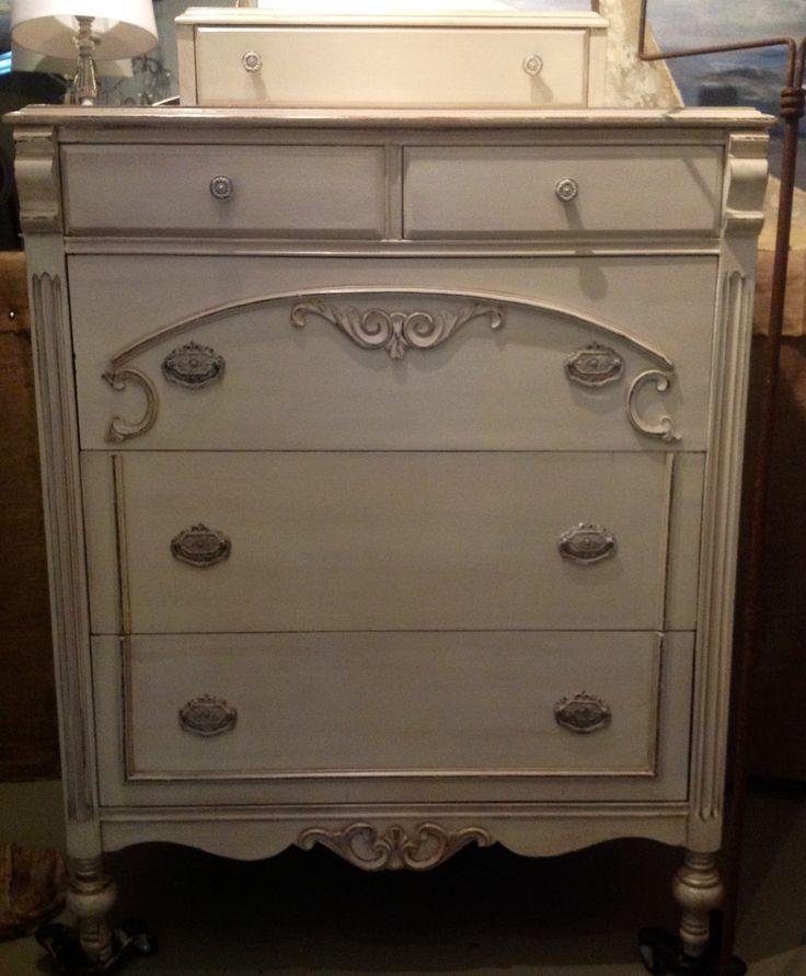 Dresser In Distressed Cream Distressed Furniture Home Dec