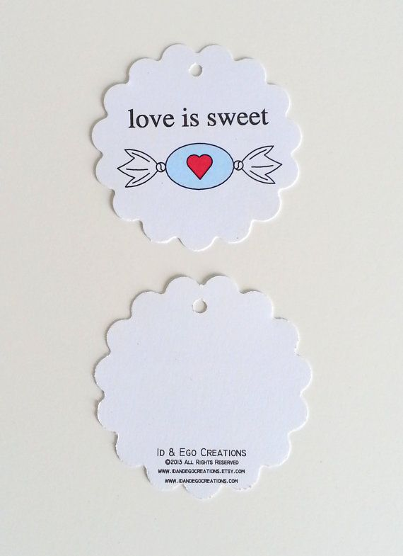 Bridal Shower Favor Tag Love is Sweet Wedding Shower Tag Candy Favor ...