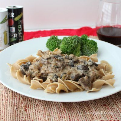 Crock pot beef stroganoff by living well kitchen tested and yummy