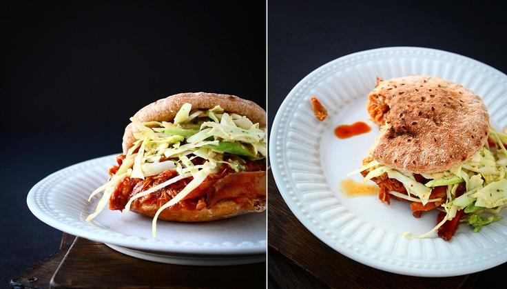 BBQ Chicken & Coleslaw Sandwich | Fab Eats & Drinks | Pinterest