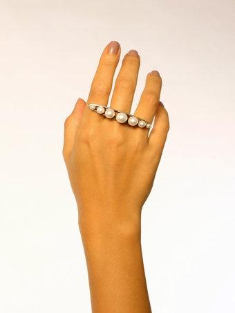 string pearls massage ring
