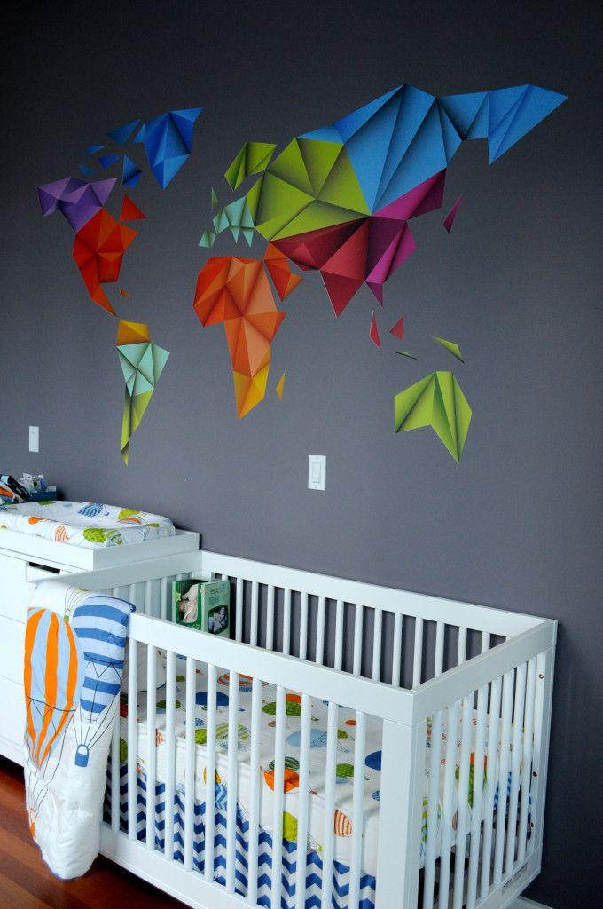 "Modern take on ""Oh the Places You'll Go""-themed nursery - #nursery #modern"