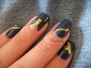 Zipper nail art | Amazing Nail Art | Pinterest