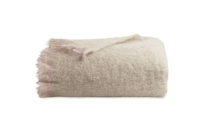 Mohair Blanket in Barnowl from Design Within Reach   RemodelistaWarm Blanket For Winter
