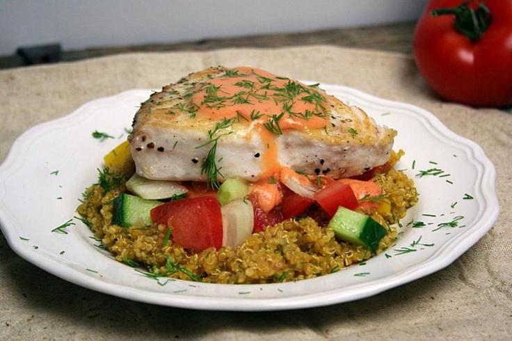 ... Swordfish with Gazpacho Salsa, Tomato Vinaigrette, and Lemon-Dill